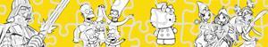 Pintar Puzles de Personatges de dibuixos